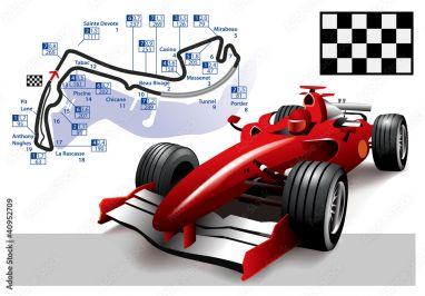 Fotobehang Formule 1.Fotobehang Poster Monaco Formula 1 Grand Prix Foto4art