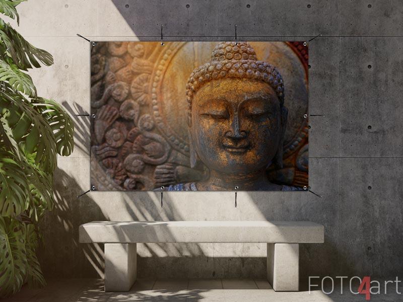 Tuinposter - Rots Boeddhabeeld