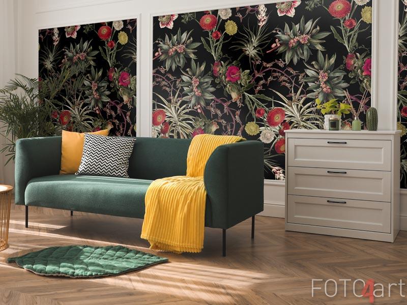 Behang - Bloemenpatroon