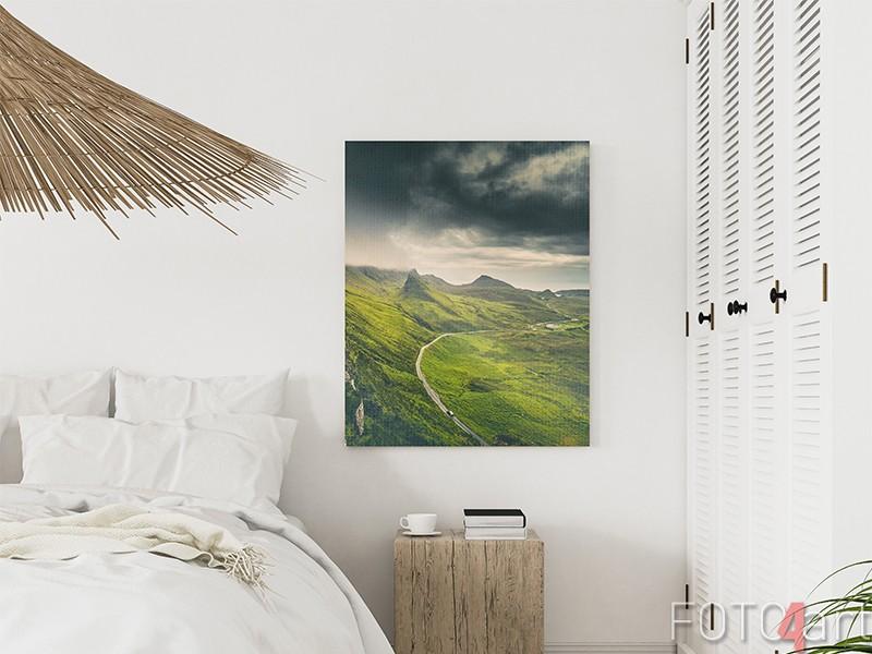 Schotse hooglanden op canvas