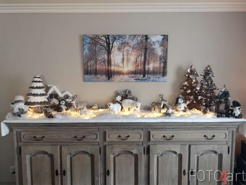 Foto op Canvas Winter Bos