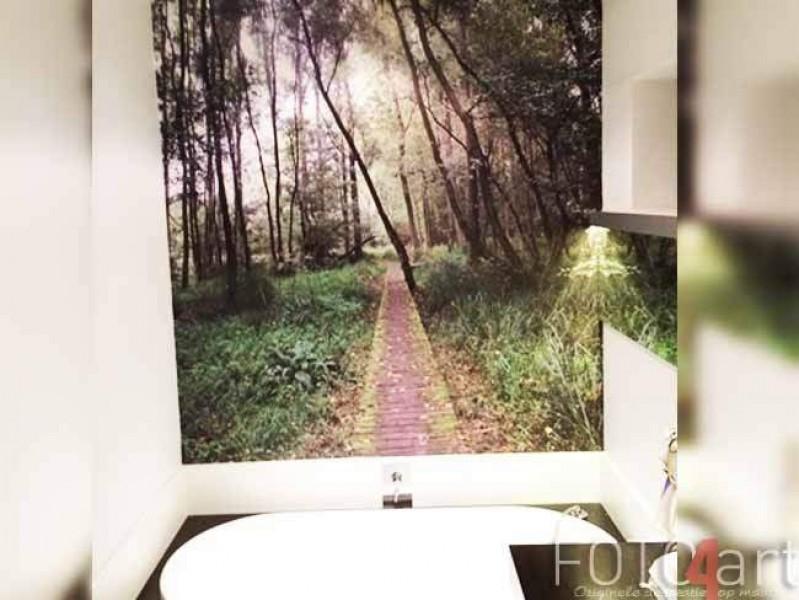 Fotobehang Weg in bos
