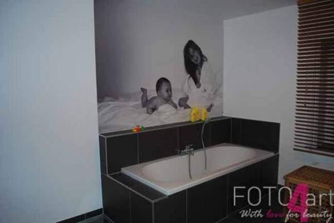 Fotobehang badkamer