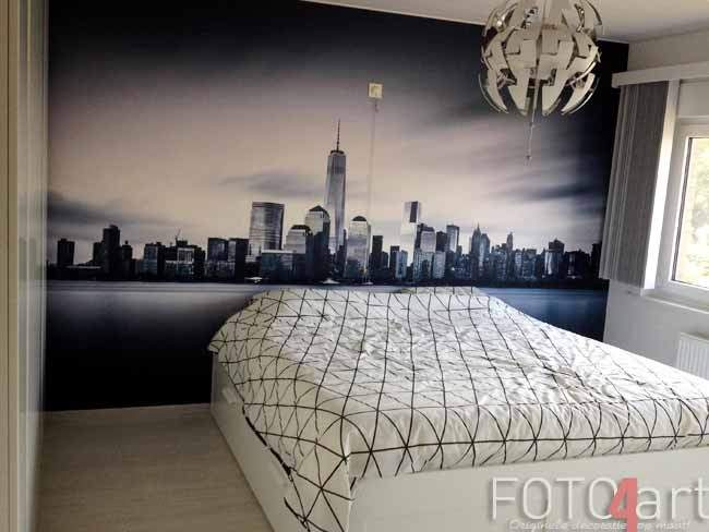 Fotobehang New York in slaapkamer