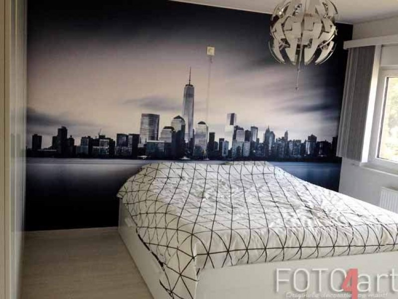 Fotobehang New York in slaapkamer