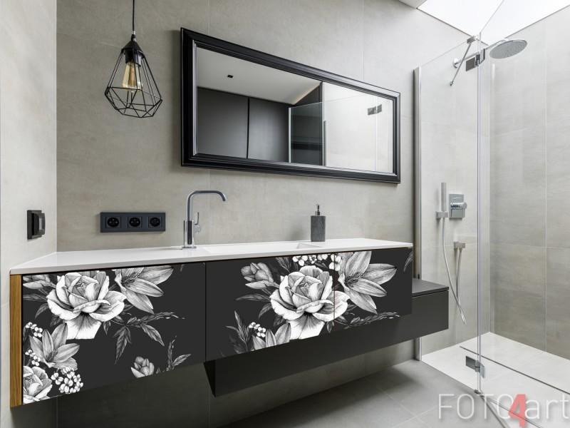Badkamer met Meubelsticker Vintage Bloemen Patroon