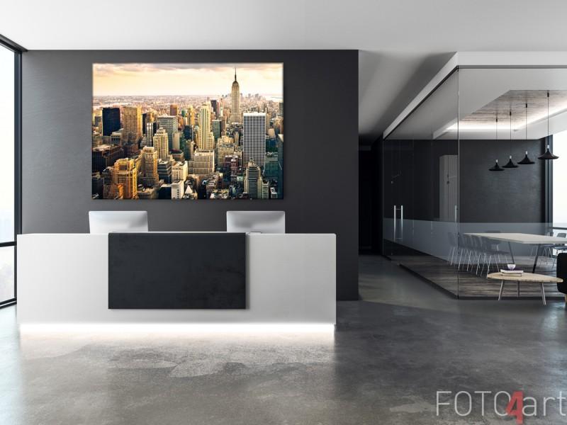 Inkomhal met Foto op Canvas New York