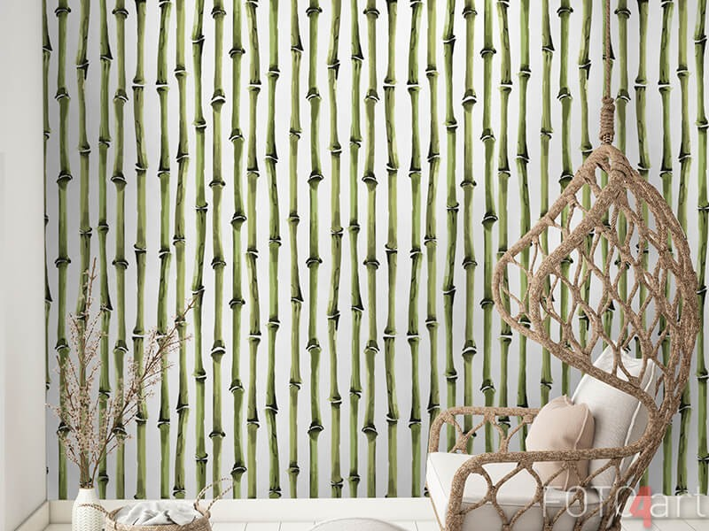 Bamboe behang