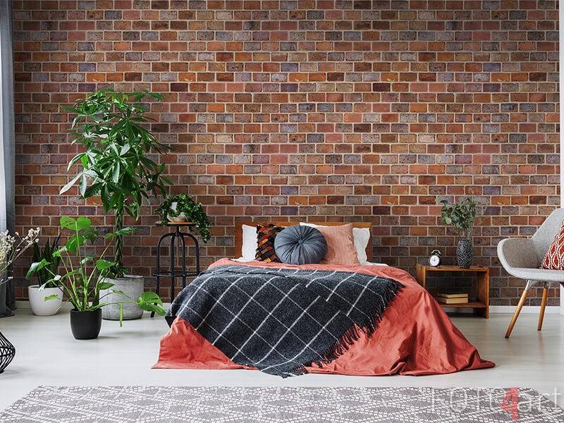 Behang baksteen