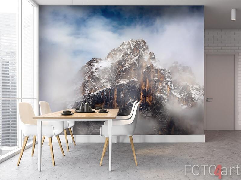 Fotobehang met berglandschap