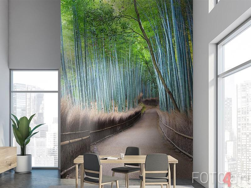 Fotobehang bamboebos