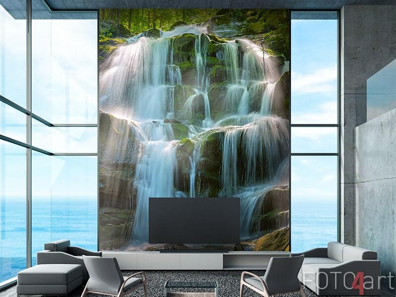 Waterval op fotobehang