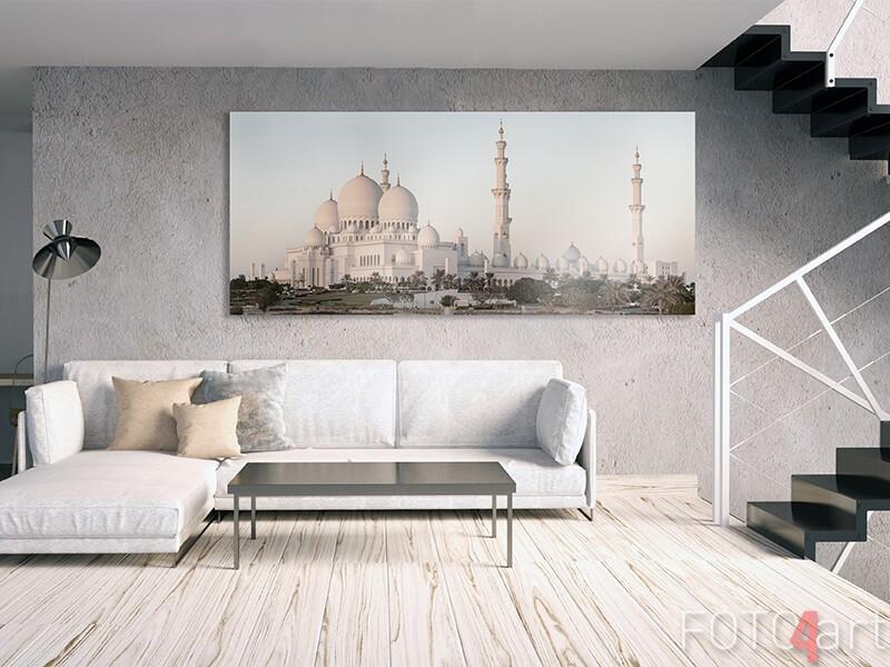 Moskee op aluminium