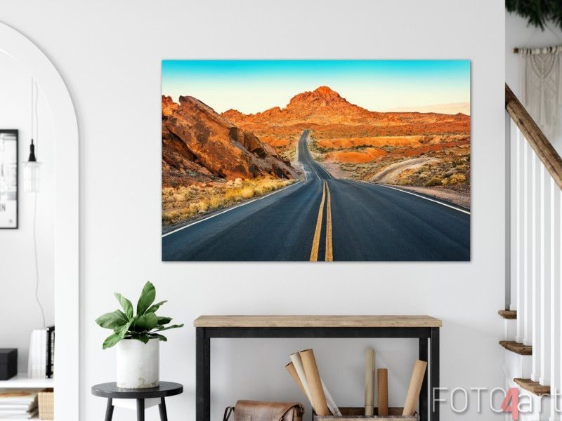 Foto The Valley of Fire Nevada op Aluminium