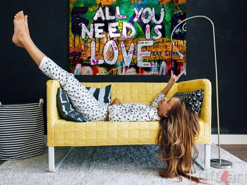 Foto op plexiglas all you need is love