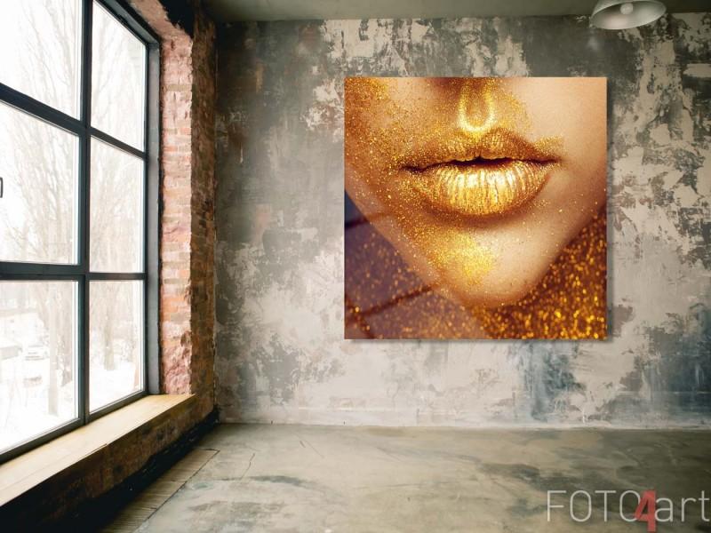 Foto op plexiglas - Het sexy Magische Portret van het Meisje in Goud