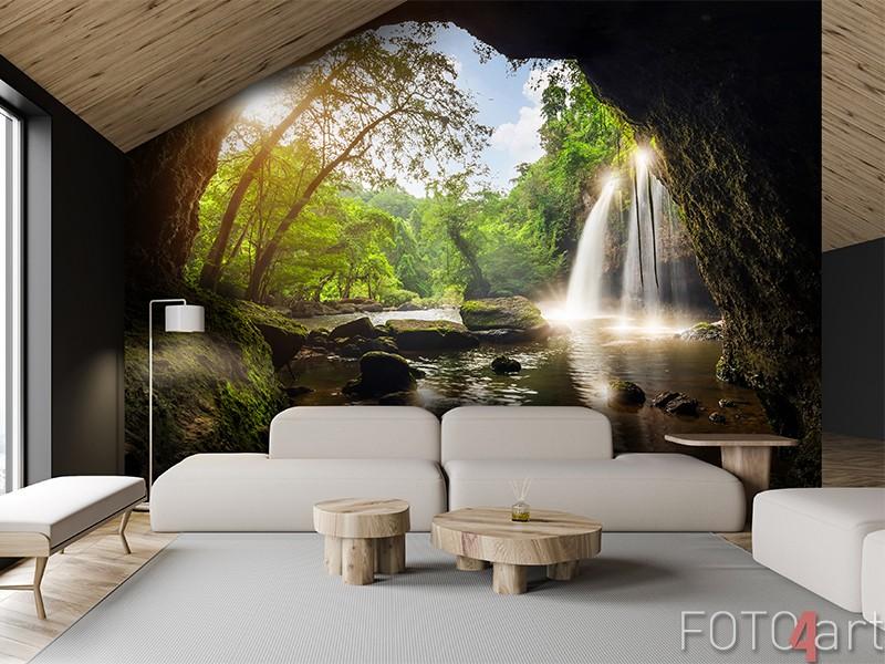 Fotobehang waterval