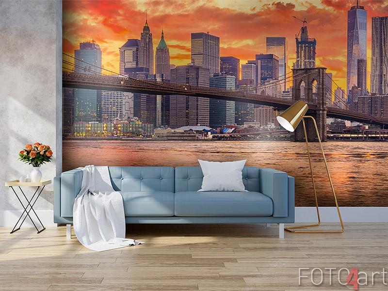 New York skyline op fotobehang