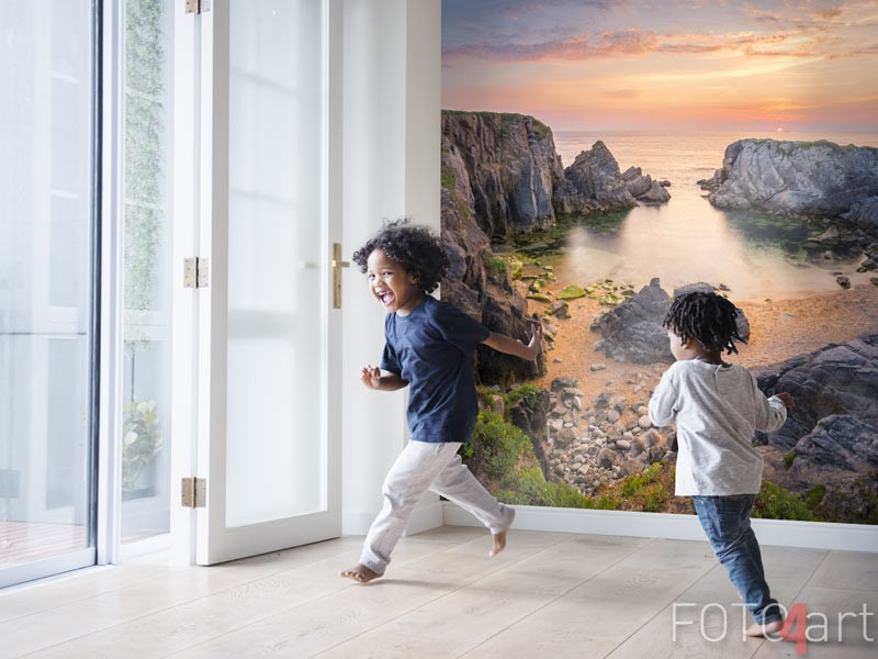 Afwasbaar fotobehang kustlijn