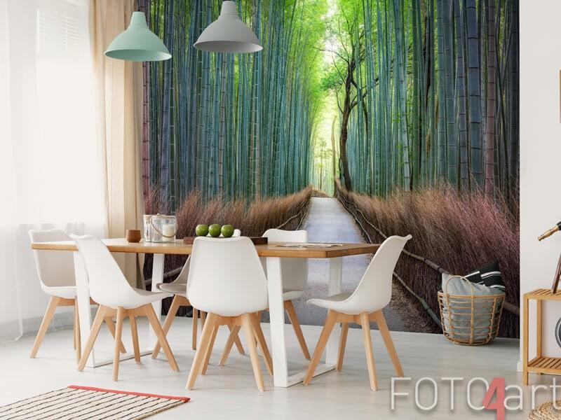 Bamboebos op fotobehang