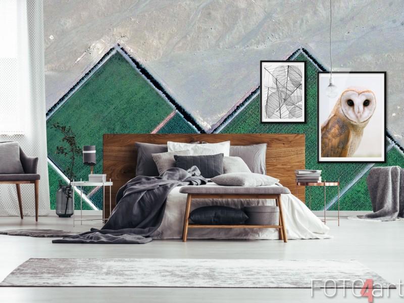 Abstract fotobehang met kleuraccent