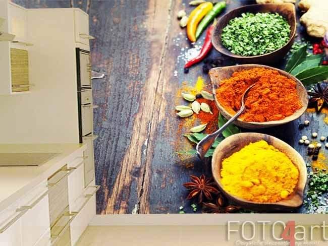 Fotobehang kruiden in de keuken