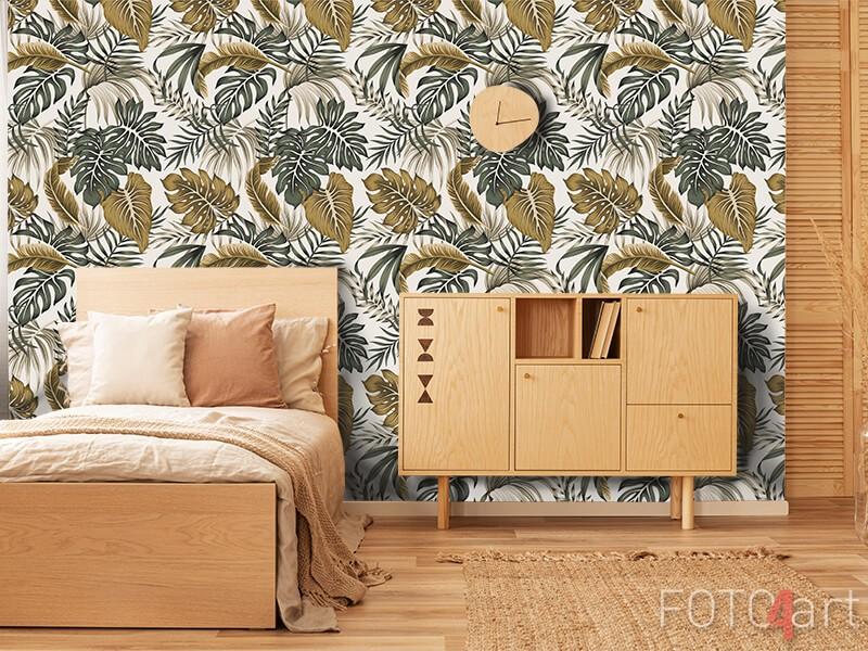 Fotobehang met plantenpatroon