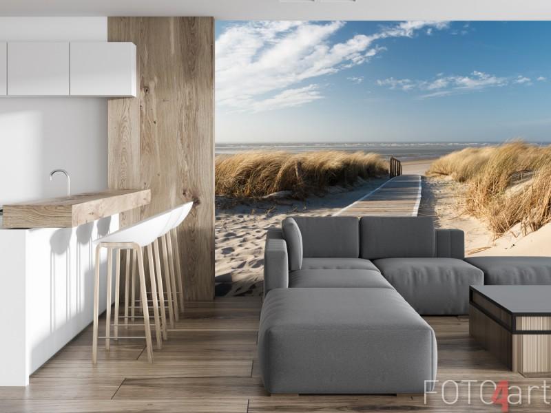 Fotobehang van het Noordzee Strand