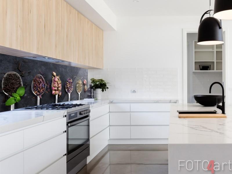 Glazen Keuken Achterwand met Foto The