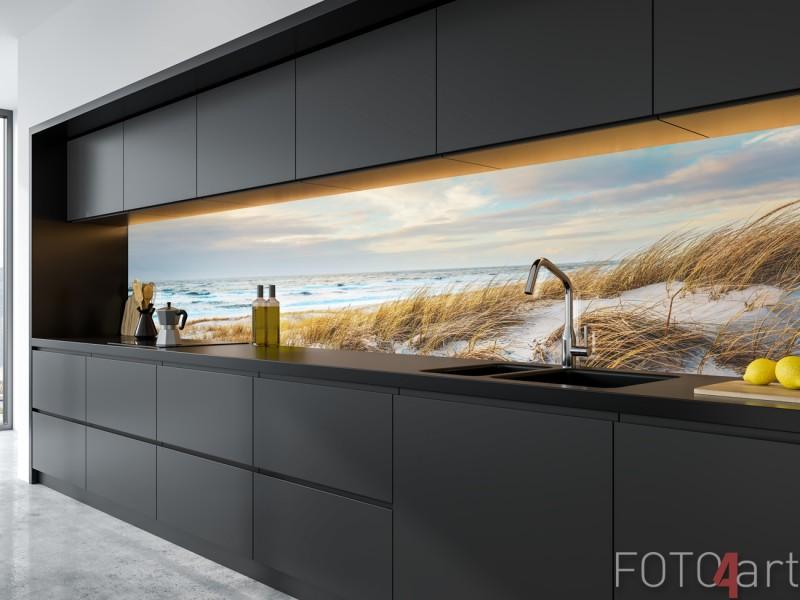 Glazen Keukenachterwand met Foto Noordzee