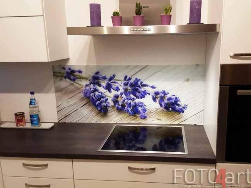 Keuken achterwand met foto levendel
