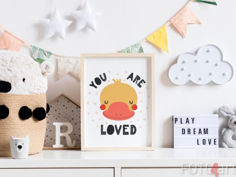 Kinderkamer met Poster Illustratie Eend