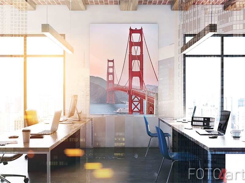 Golden Gate Bridge op plexiglas