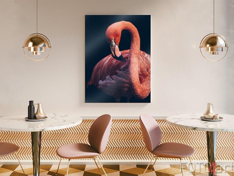 Flamingo op plexiglas