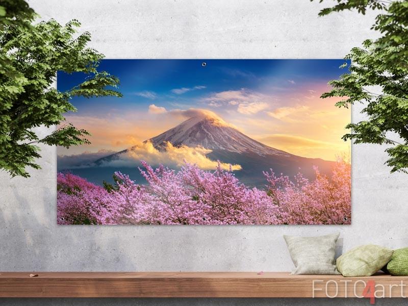 Tuinposter Fuji gebergte