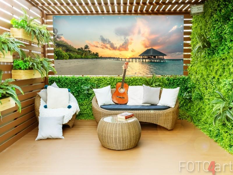 Tuinposter met Foto Tropisch Strand