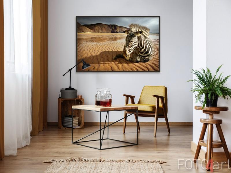 Zithoek met Poster Zebra